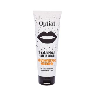 'Feel Great' Mouthwatering Mandarin Coffee Scrub 220g ON WHITE
