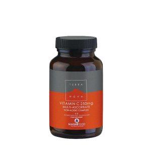 TERRANOVA Vitamin-C-250mg-Multi-Ascorbate-Complex-Non-Acidic