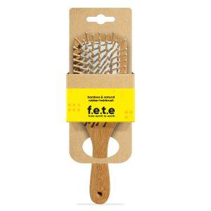 f.e.t.e bamboo & natural rubber hairbrush