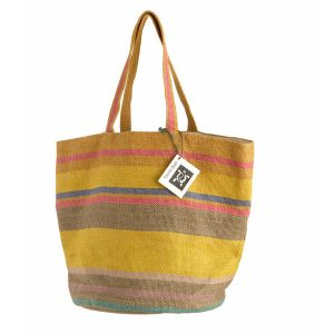 Turtle Bags Jute Beach Bag